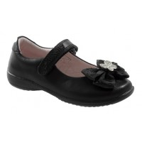 Lelli Kelly Tallulah Hair Clip Black Patent School Shoes