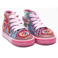Lelli Kelly Rainbow Sparkle Mid Baseball Boots