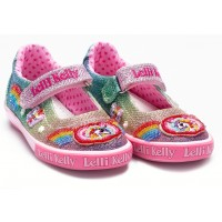 Lelli Kelly Rainbow Sparkle Canvas Shoes