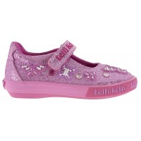 Lelli Kelly Butterfly Pink Glitter Canvas Shoes
