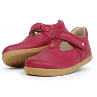 Bobux I-walk Louise Dark Pink T-bar Shoes