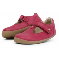 Bobux Step Up Louise Dark Pink T-bar Shoes
