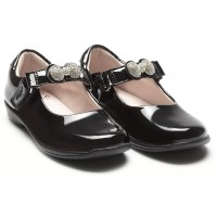 Lelli Kelly Mandy LK8304 Black Patent Changeable Strap School Shoes