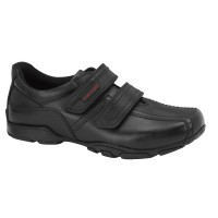 Hush Puppies Mike Black School Shoes