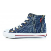 Levis Red Tab Hi Top Senior Blue Baseball Boots