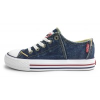 Levis Red Tab Lace Blue Denim Canvas Shoes