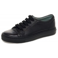 Petasil Peel Black School Shoes