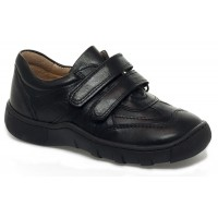 Petasil Victor Black School Shoes