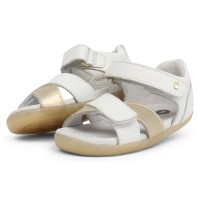 Bobux Step Up Sail White Gold Sandals