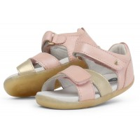 Bobux Step Up Sail Blush Pink Gold Sandals
