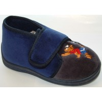 Sleepers Billie Navy Grey Slippers