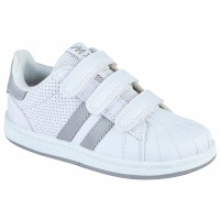 Spin White Silver PE Trainers