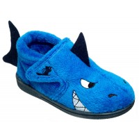 Chipmunks Sharky Blue Slippers