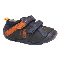 Hush Puppies Tad Navy Blue Pre-walkers
