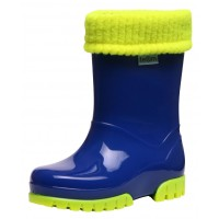 Term Lined Blue Fluorescent Wellingtons