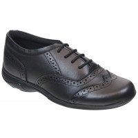 Term Eleanor Lace Black School Shoes