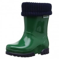 1fc30dc3c777 Toughees Term Lined Wellingtons Green