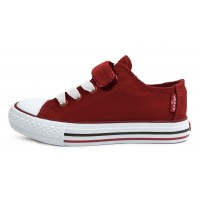 Levis Trucker Elastic Red Canvas Shoes
