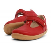 Bobux Step Up Louise Red T-bar Shoes
