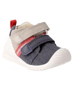 Biomecanics 192207 Navy Taupe Canvas Shoes