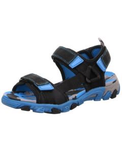 Superfit Henry 101-01 Black Blue Sandals