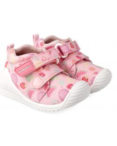Biomecanics 212210-A Pink Print Canvas Shoes