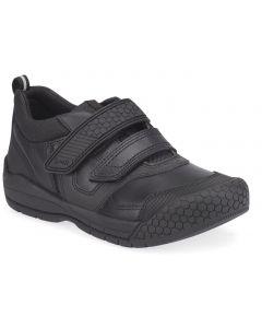 Start-Rite Strike Black Leather School Shoes