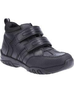 Hush puppies Jezza Boot Black Leather School Boots