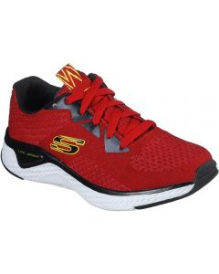 Skechers Solar Fuse Red Black Trainers