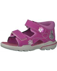 Ricosta Pepino Kittie Candy Pink Flower Sandals