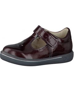 Ricosta Pepino Winona Burgundy Patent T-bar Shoes