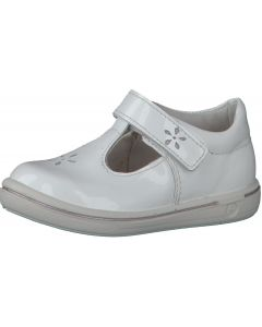 Ricosta Pepino Winona White Patent T-bar Shoes