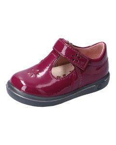 Ricosta Pepino Winona Merlot Patent T-bar Shoes