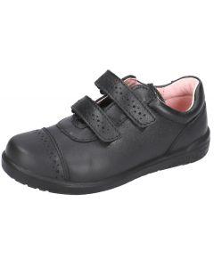 Ricosta Grace Black Leather School Shoes