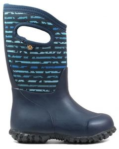 Bogs York Spot Stripe Blue Boots