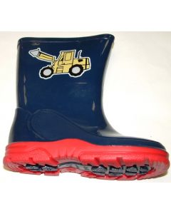Digger Wellington Navy Red