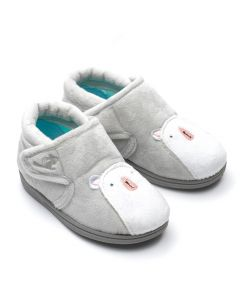 Chipmunks Arctic Light Grey Slippers