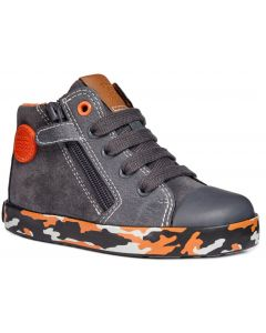 Geox Kilwi Grey Orange Boots