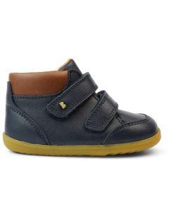 Bobux Step Up Timber Navy Tan Boots