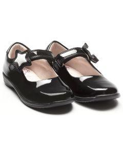 Lelli Kelly Colourissima LK8700 Star Black Patent School Shoes