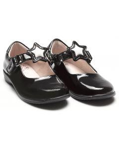 Lelli Kelly Colourissima Star LK8600 Black Patent School Shoes