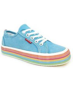 Levis Pearl Elastic Aqua Blue Canvas Shoes