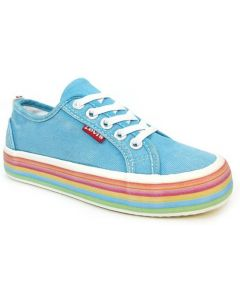 Levis Pearl Lace Aqua Blue Canvas Shoes