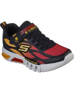 Skechers Flex Glow Dezlom Black Red Trainers
