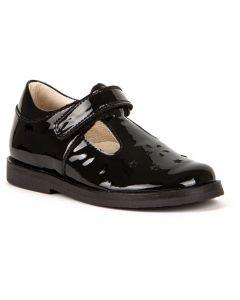 Froddo G3140128-1 Black Patent T-bar School Shoes