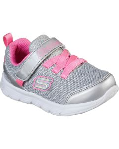Skechers Comfy Flex Moving On Silver Trainers