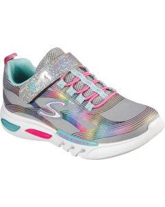 Skechers Glow Brites Grey Trainers