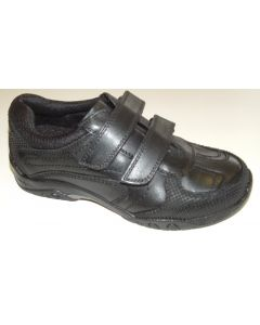 Hush Puppies Jezza Black Leather School Shoes
