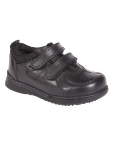 Hush Puppies Liam Black School Shoes