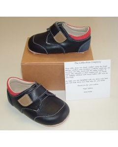 Ickle Shooz Navy Red Pram Shoes